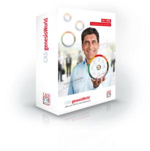 CAS genesisWorld Packshot der CRM Lösung