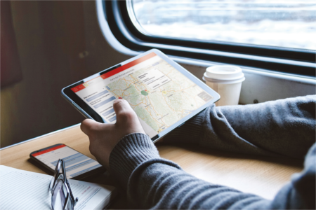 CAS genesisWorld x9 im Vertrieb mobil nutzen, einfache Planung durch Kartendarstellung auch unterwegs auf Reisen