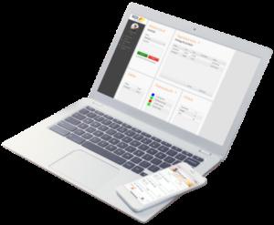 Laptop und Smartphone zeigen GDI Zeit