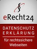 Siegel für rechtssichere Webseiten - Datenschutzerklärung