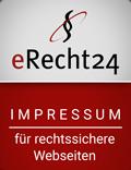 Siegel für rechtssichere Webseiten - Impressum