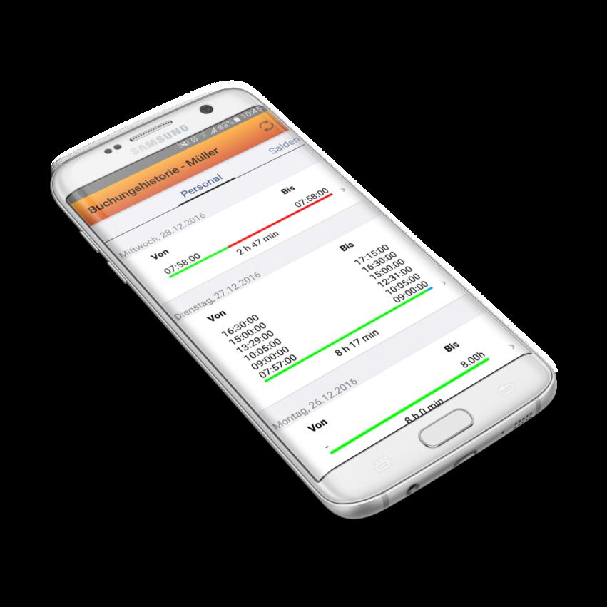 GDI Zeit Arbeitsplan auf dem Smartphone