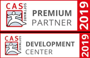 Auszeichnung als Premium Partner und Development Center 2019 der CAS Software AG