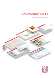 Prospektvorschau zur Versionsinformation CAS genesisWorld x10.1.7