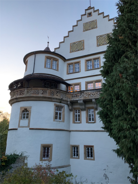 Schloss Morstein bei Abendstimmung