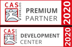 Auszeichnung als Premium Partner und Development Center 2020 der CAS Software AG