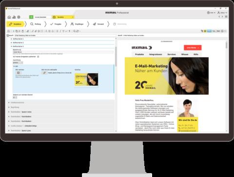 Inxmail Professional Editor auf einem Rechner