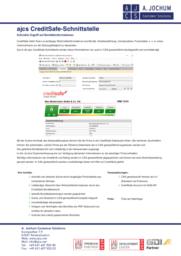 ajcs CreditSafe Prospektvorschau