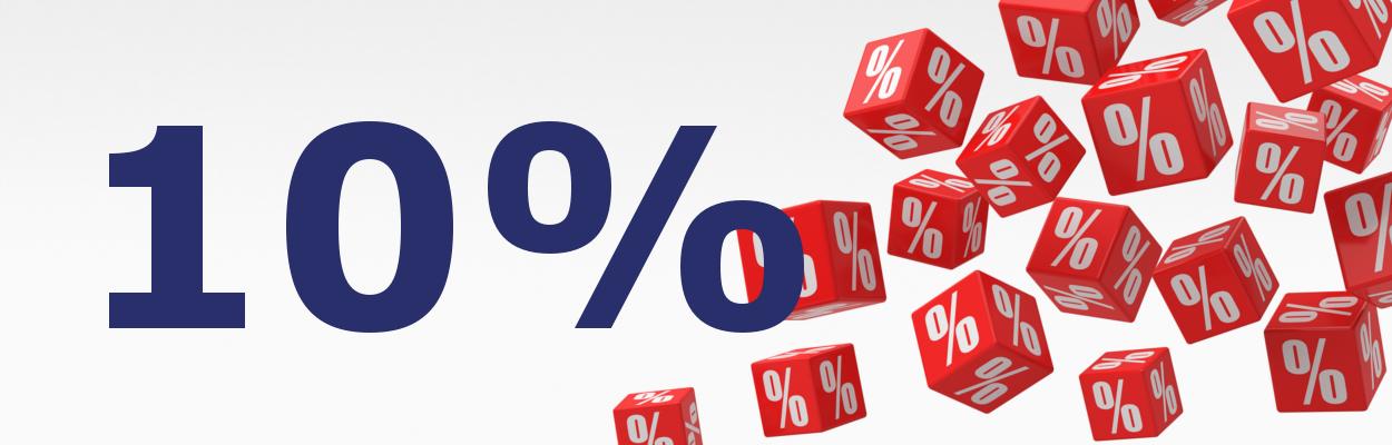 10% Rabatt zum Jahresende