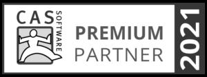 Auszeichnung als Premium Partner 2021 der CAS Software AG