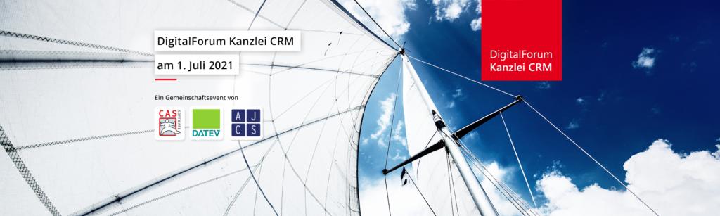 DigitalForum Kanzlei CRM - Segel mit Blick in den Himmel