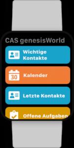 CAS genesisWorld Smartwatch Ansicht