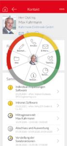 CAS genesisWorld Kundenakte auf dem Smartphone